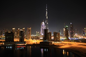 Burj Khalifa by night, Dubai