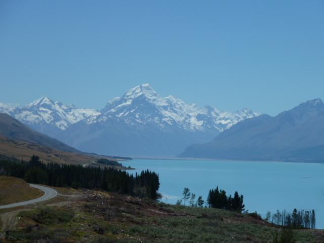 Weg naar Mount Cook